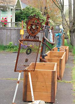 Sidewalk art in Portland, Oregon