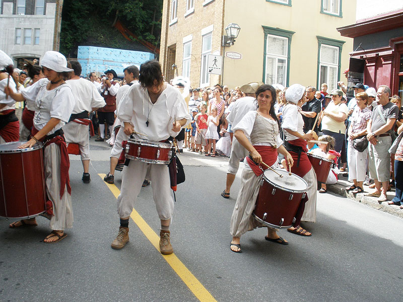 Revelers at the New France Festival in Quebec City