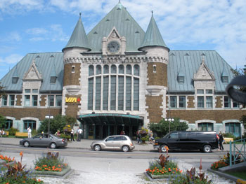 The railway station in Quebec City