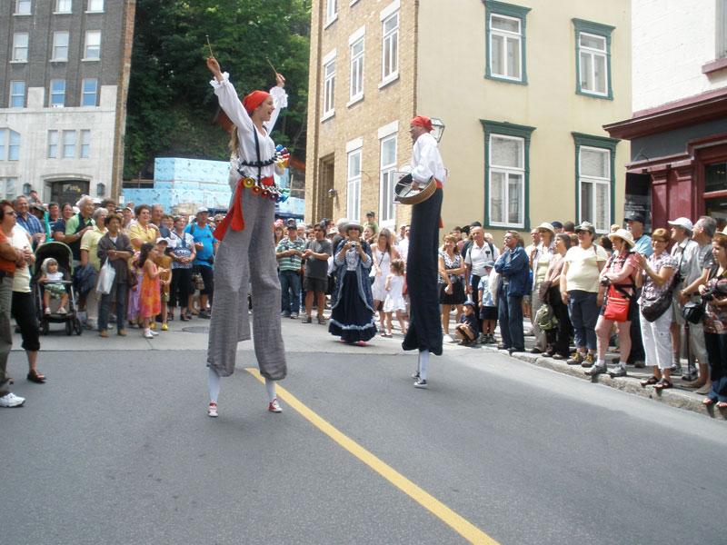 Stick men at the New France Festival in Quebec City