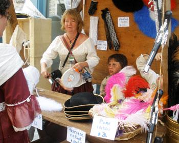 A costume vendor