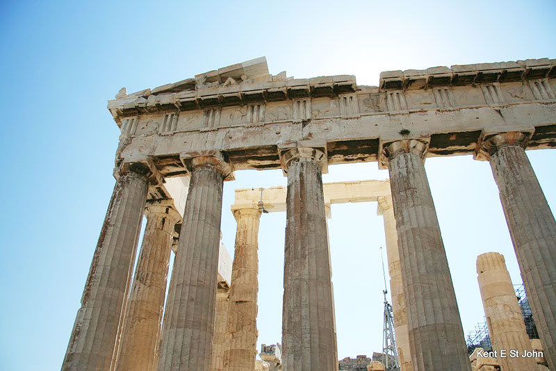 The Parthenon, a Temple of Athena on the Acropolis