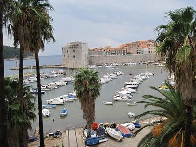 Cavtat harbor, Croatia.
