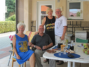 My new found family: Branka & Jure Malic, and Karmela & Zlatko Spoljaric.