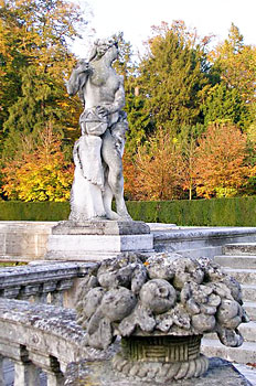 A statue in the Botanical Gardens  in Padua, Italy