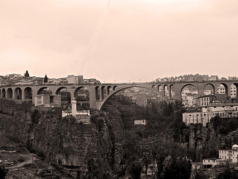 Sadi Rashed bridge in Constantine, Algeria.