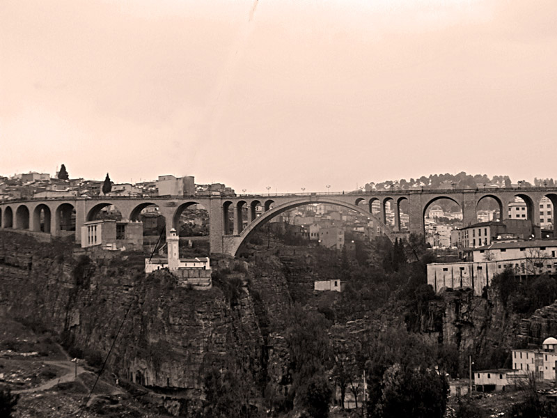 Sadi Rashed bridge in Constantine, Algeria.