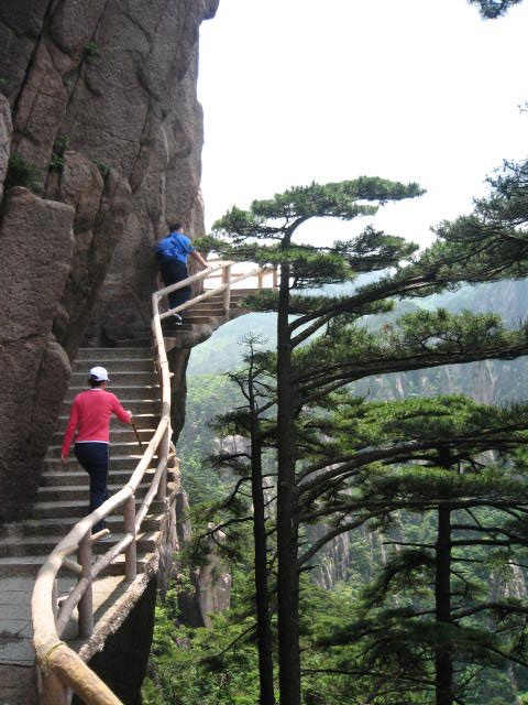Acrophobic Paths on Yellow Mountain