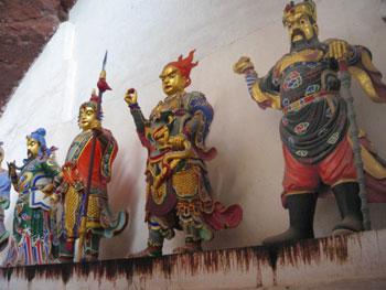 Figures inside Taoist Temple