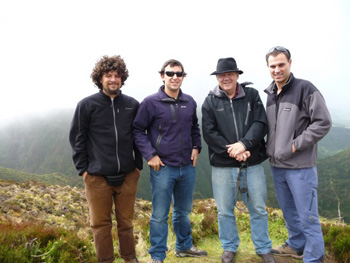 The author with guides from Picos de Aventura