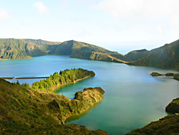 Fire Lake, in Ponta Delgado, Azores