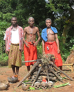 Beginning the voodoo ceremony in Benin. Photos by Marilynn Windust