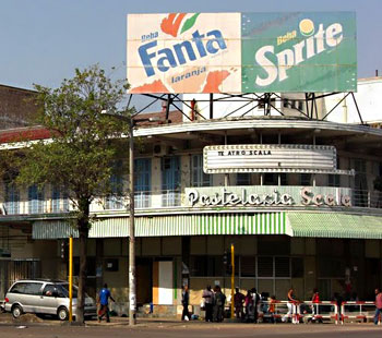 Old style buildings in Maputo street