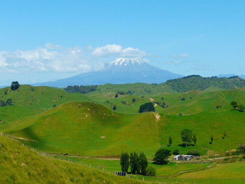 Mt. Taranaki on New Zealand's North Island