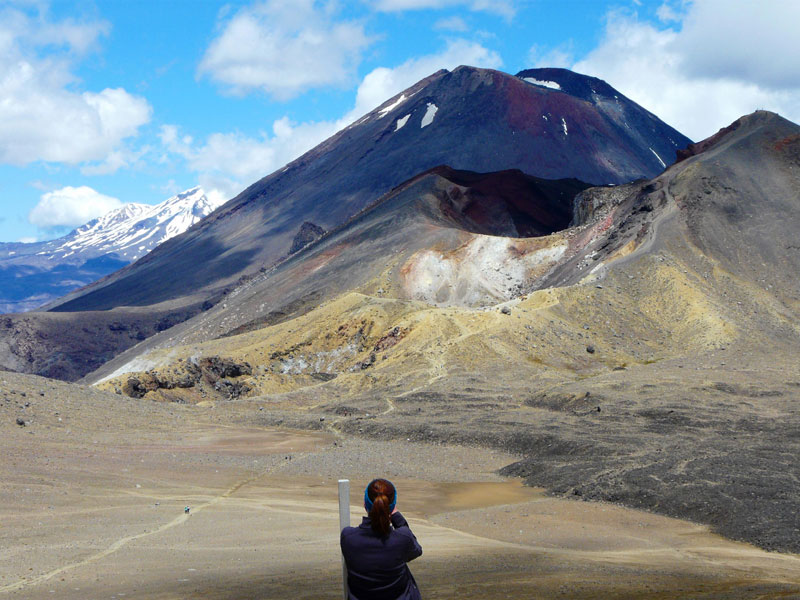 Mt. Ngauruhoe, aka Mt. Doom from Lord of the Rings, on the Tongariro Alpine Crossing. Photo by David Rich.