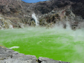 The acid lake on White Island