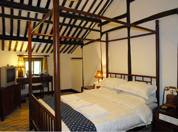 A room in a guest house in Wuzhen, where you can live like a local