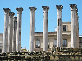 Roman Columns in Córdoba's City Center