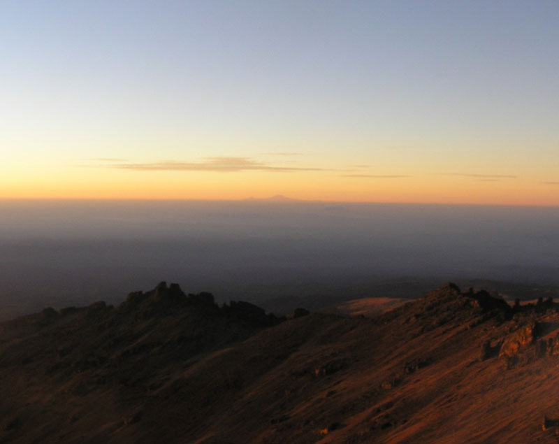Mt. Kilimanjaro in the distance.