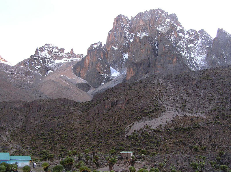 Shipton's Camp beneath the summit of Mt. Kenya