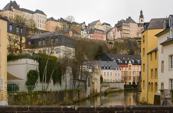 View from lower section of Luxembourg to upper