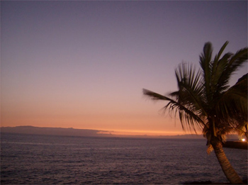 Sunset in Tenerife.