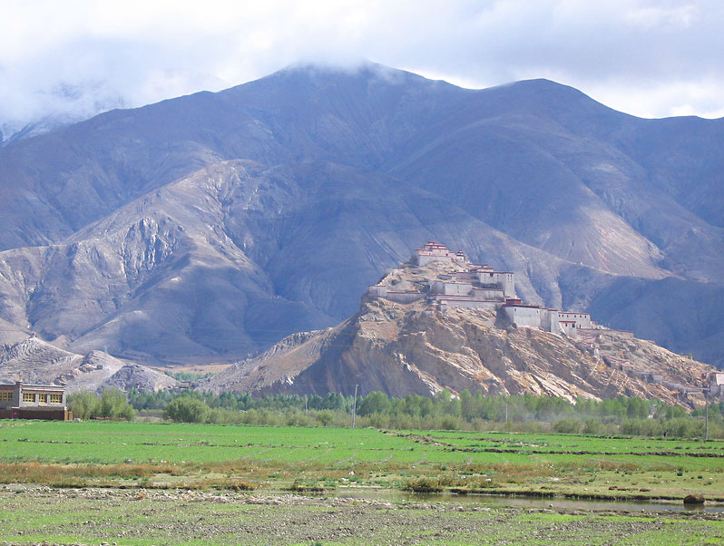 The Gyantze Dzong from a distance. Photo by Mark LaMonica.