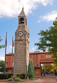 Built in 1883, in memory of Erastus Corning, this Clock Tower is now a city landmark.