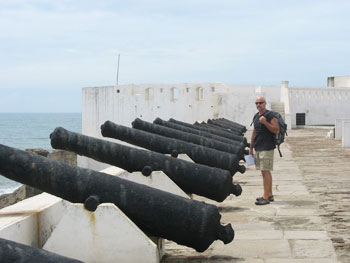 The cannons of Cape Coast Castle