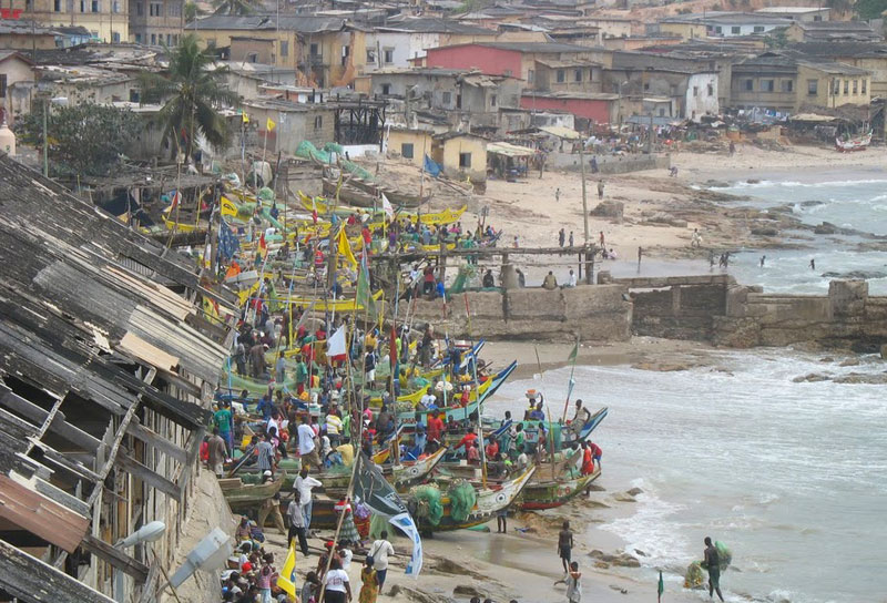 Just outside of the 'Door of no Return' at Cape Coast Castle.