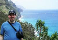 Jim Reynoldson on the Na Pali Coast in Hawaii