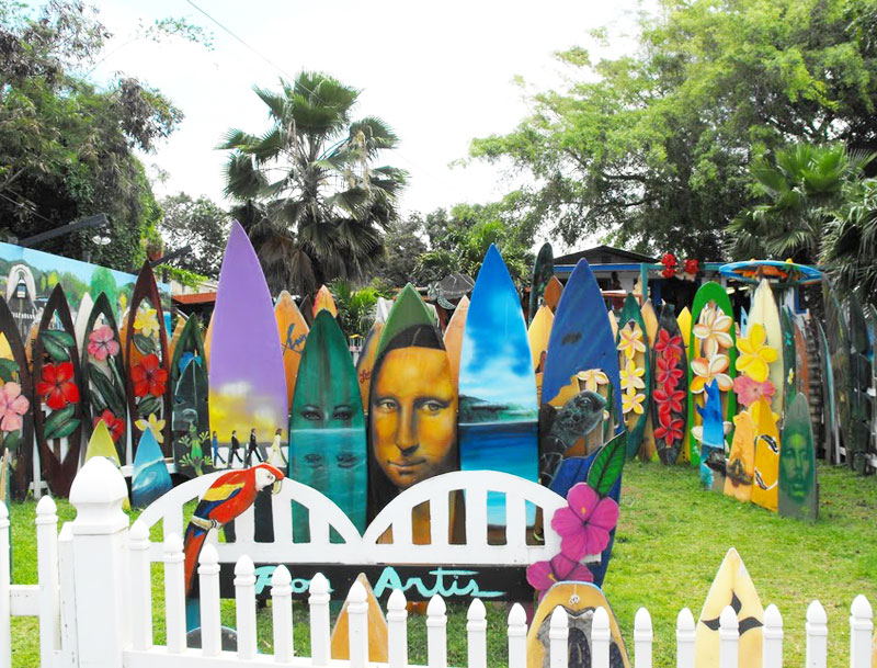 Ron Artis surfboard art studio on Oahu's North Shore