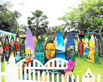 Ron Artis surfboard art studio on Oahu's North Shore