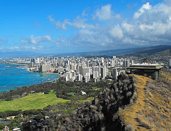 Waikiki, seen from the top of Diamond Head Crater. Photos by Jim Reynoldson.