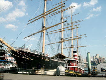 The Peking, a sloop at the South Street Seaport