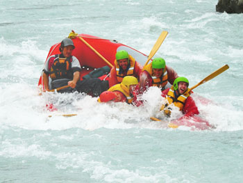 Rafting Class V rapids