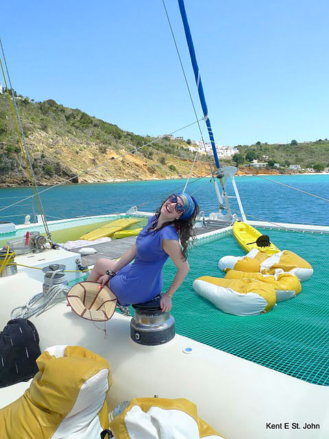 Sailing off St. Martin