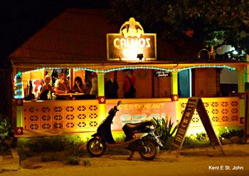 The Calmos Café in Grand Case, St. Martin