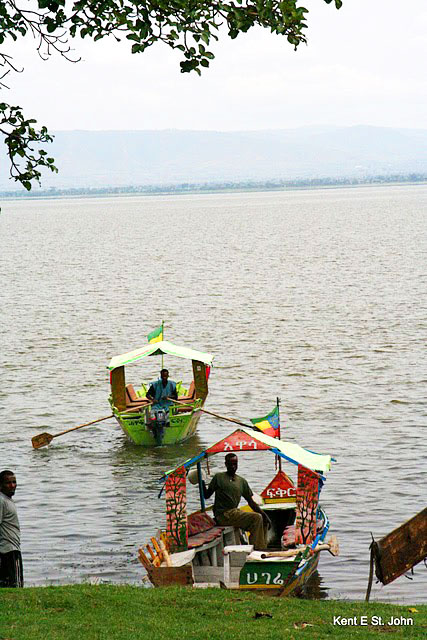 Rowboats on Lake Tana