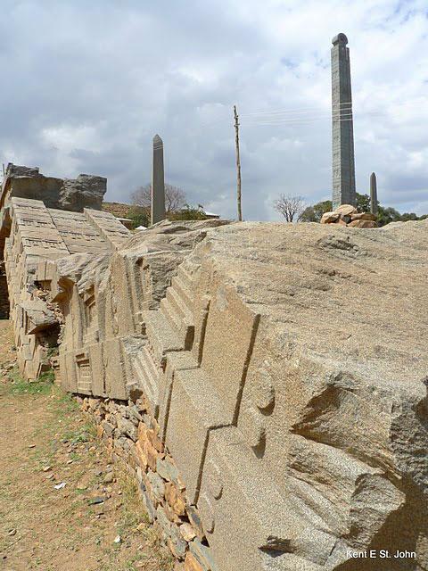 Broken stela in Axum