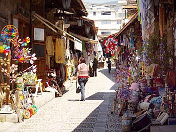 Small street bazaar in Byblos