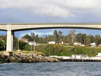 Bridge over the Yola River, Fort Bragg, Calif. Photos by Max Hartshorne/GoNOMAD