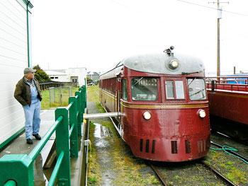 The Skunk Railroad engine car