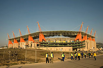 The new Mbombela Stadium in Nelspruit, built for the 2010 FIFA World Cup, has put the capital of Mpumalanga on the map. Photo by Graeme Williams, MediaClubSouthAfrica.com