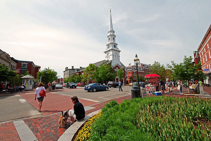Market Square in Portsmouth, New Hampshire