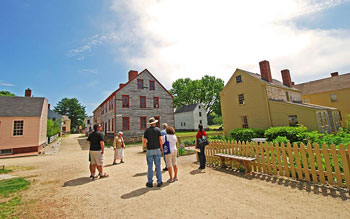 A guided tour of the Strawbery Banke Museum in progress