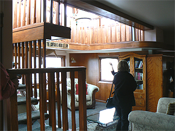 Inside the Captain's Suite on the Dixie Queen River boat Hotel, Sacramento.