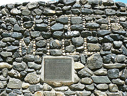 Memorial to the site of Sutter's Mill, where gold was discovered in Colomba, CA.