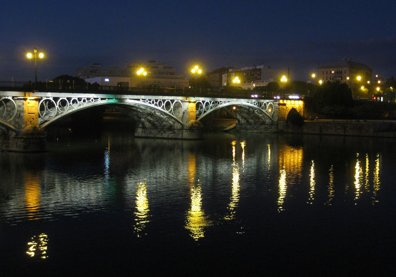 Puente de Isabel II in Seville, Spain. Photo by Angela Doherty
