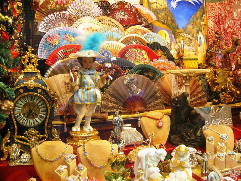 Shop window in Seville